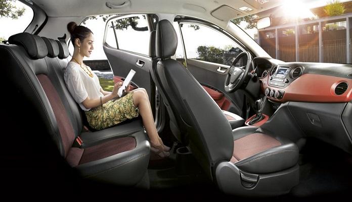 Không gian có phần rộng và thoáng hơn của Hyundai Grand i10
