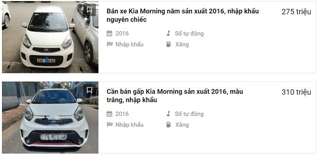 Kia Morning 2016 nhập khẩu được rao bán trên nhiều diễn đàn
