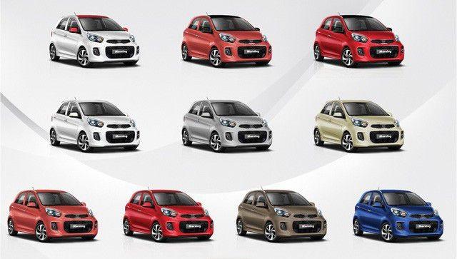 Màu xe bắt mắt với nhiều sự lựa chọn
